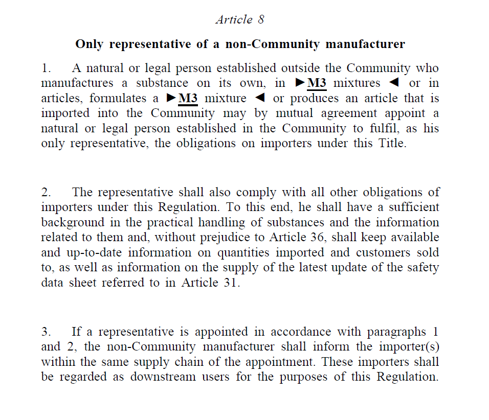 Article 8_Only Representative
