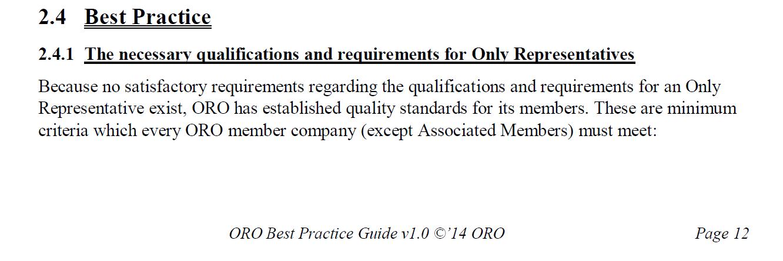 ORO best practices 1