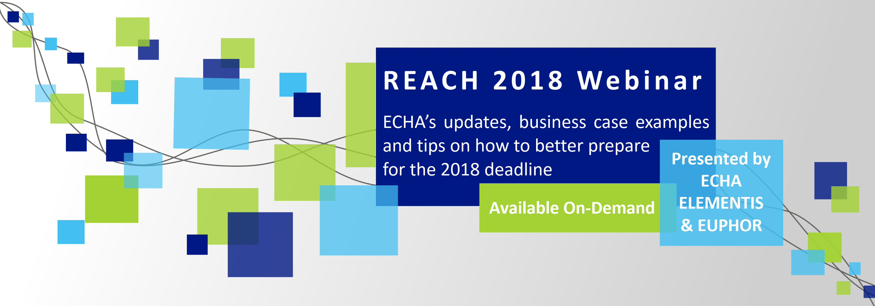reach 2018 webinar on demand banner echa chemicals